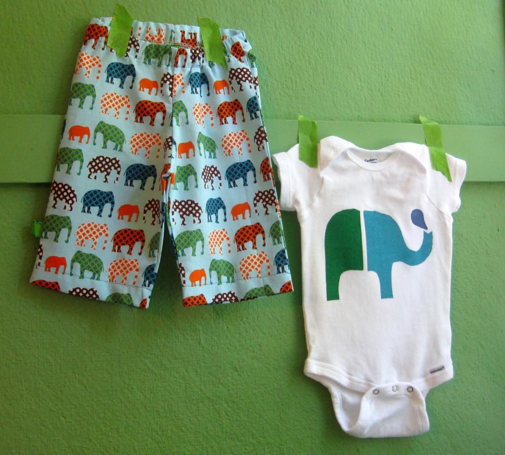 Elephant Pants & Onesie
