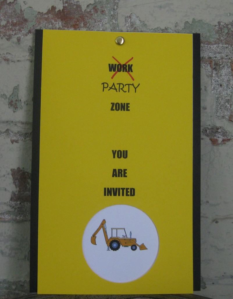 Truck Party Invitation Cover