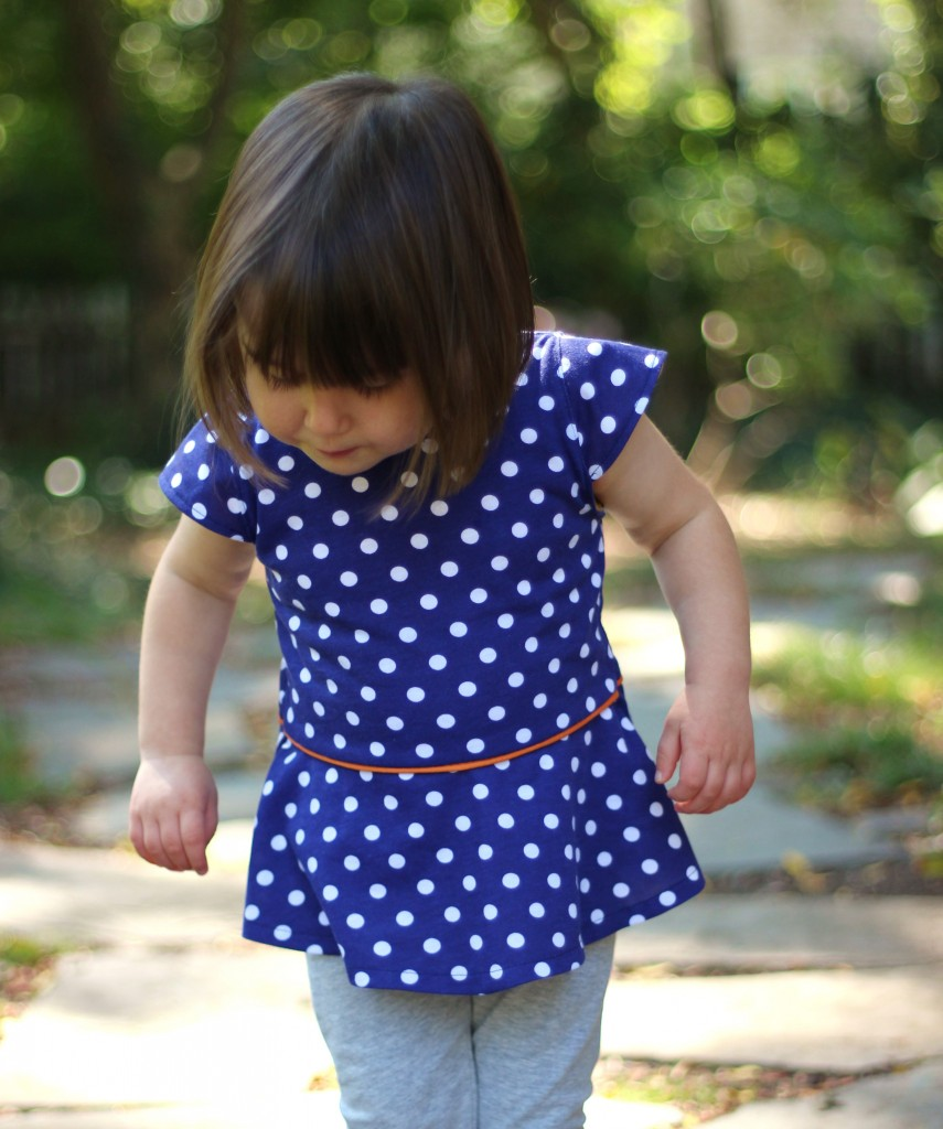 polka dot peplum sewn by #fromwholecloth