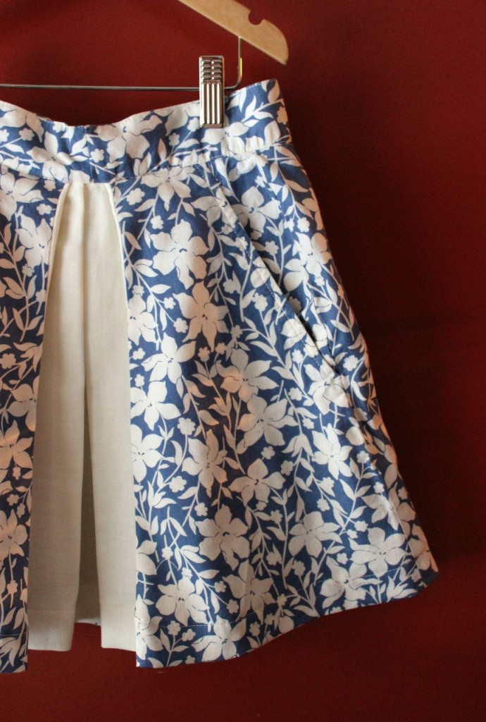 Inverted pleat skirt by fromwholecloth.com