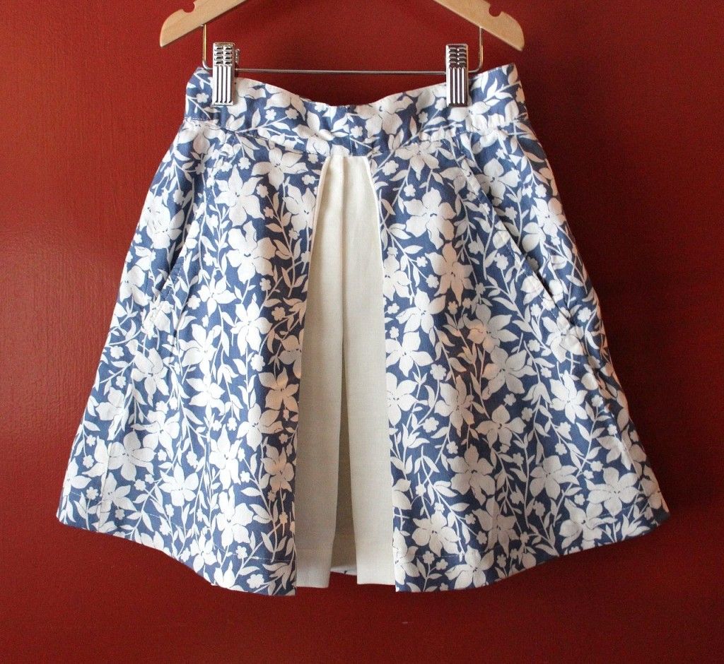 Inverted Pleat Skirt, Upcycled Long Skirt by fromwholecloth.com