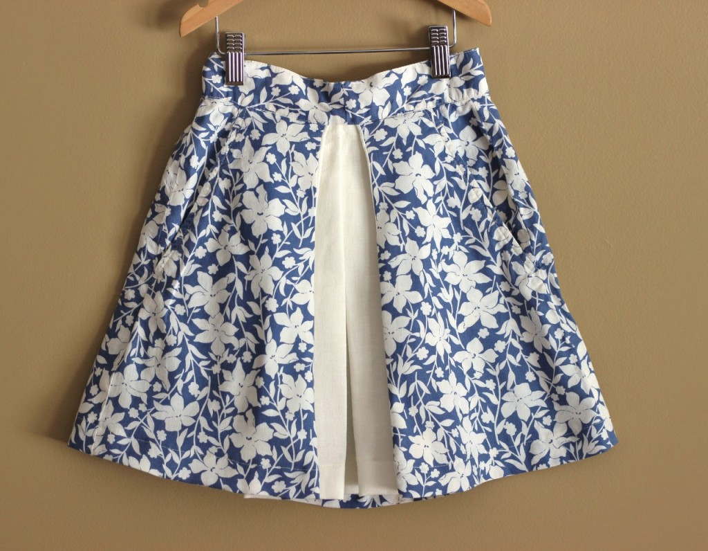 Inverted Pleat Skirt KCW Spring 2015 by from whole cloth at fromwholecloth.com