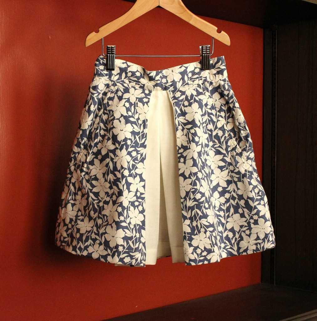 KCW Inverted Pleat Skirt by fromwholecloth.com