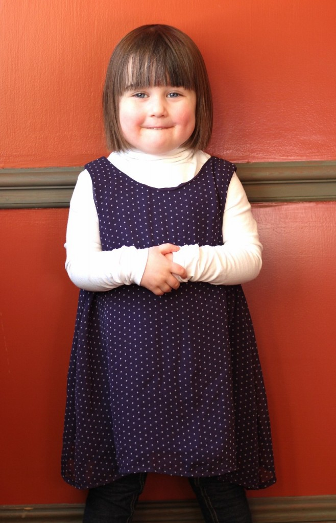 Polka Dot Dress Upcycle by fromwholecloth.com