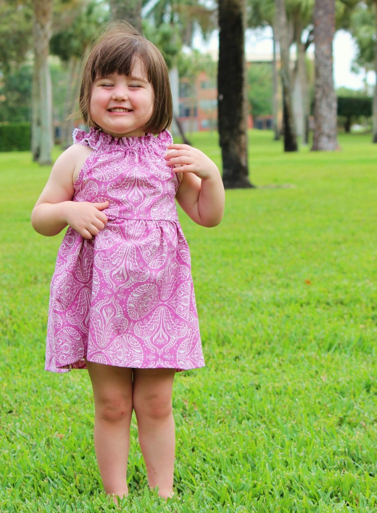 raspberry Nelle Dress sewn by fromwholecloth.com