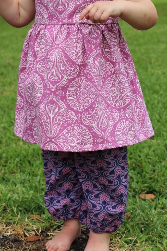 "Nelle Dress and ""Moon Pants"" by fromwholecloth.com; dress pattern by brownie goose"