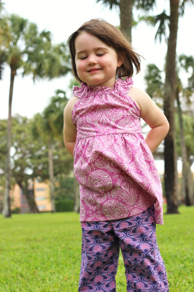 raspberry Nelle Dress by fromwholecloth.com; pattern by brownie-goose patterns