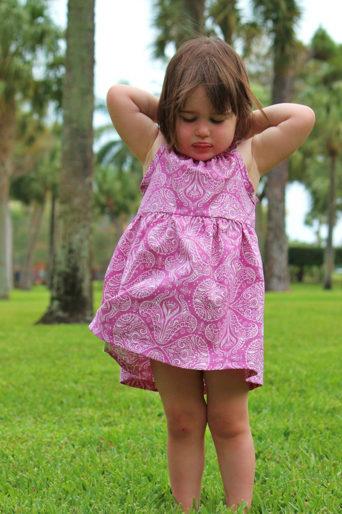 raspberry Nelle Dress by fromwholecloth.com; pattern by brownie goose