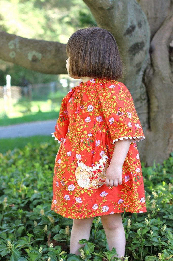 Betsy's Dress, pattern by brownie goose, sewn by fromwholecloth.com