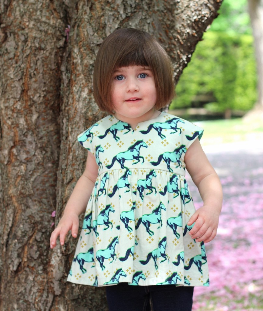 Geranium Dress & Top Pattern by Made by Rae, sewn by fromwholecloth, Mustang fabric by Cotton + Steel
