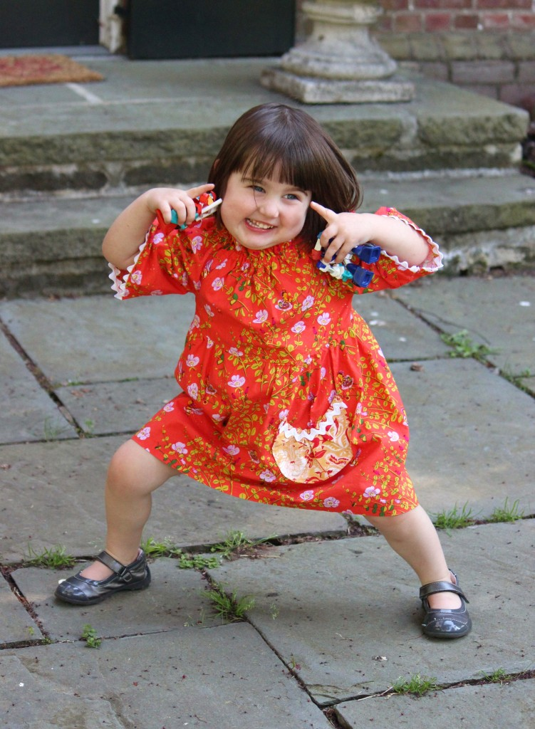 Betsy's Dress, pattern by #browniegoose, sewn by #fromwholecloth