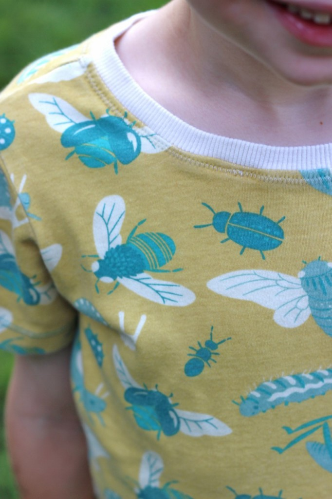 Creepy Crawly PJs, sewn by fromwholecloth.com, #rowantee and #fancypants patterns by #titchythreads