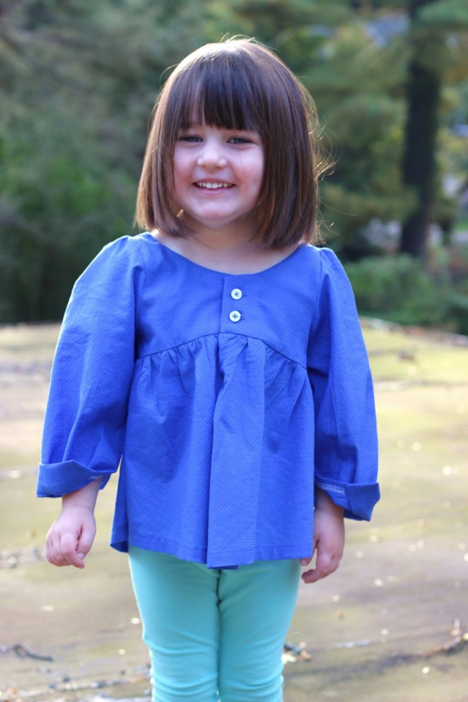 Valley Blouse by califayecollection.com, sewn by fromwholecloth.com, girls #sewing #pattern sizes 2T to 10 in girls