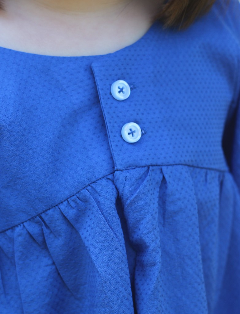 Valley Yoke close up, Valley Blouse by califayecollection.com, sewn by fromwholecloth.com, girls #sewing #pattern sizes 2T to 10 in girls